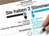 Stimmzettel zur Bundestagswahl.