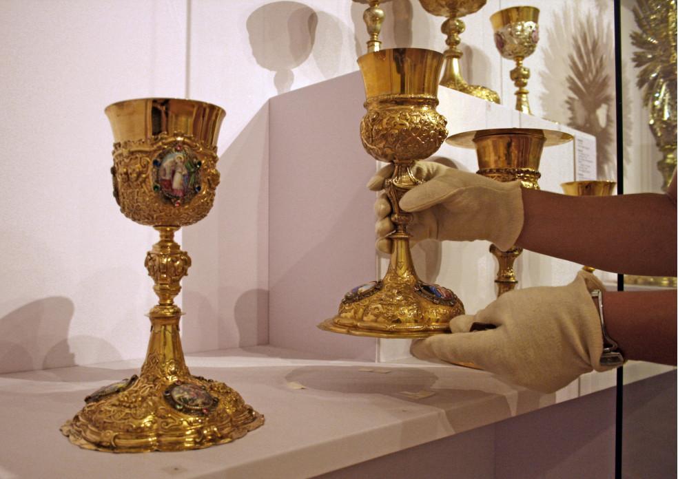 Präsentation Liturgischer Geräte im Klostermuseum Roggenburg