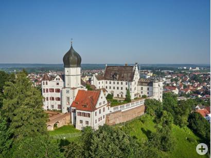 Blick auf das Vöhlin-Schloss in Illertissen.