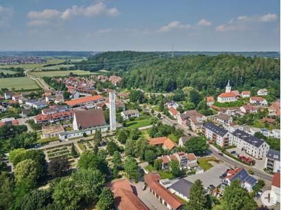 Blick auf Bellenberg.