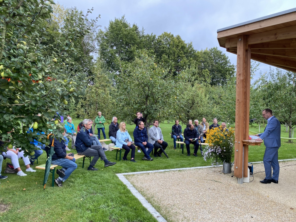 Umweltpavillon Redner LR Freudenberger